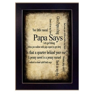 Papa Says Wall Hanging by Susan Ball