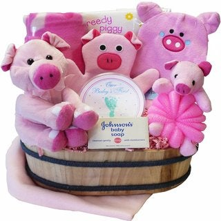 This Little Piggy Baby Bathtime Gift Basket