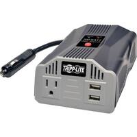 Tripp Lite Ultra-Compact Car Inverter 200W 12V DC to 120V AC 2 USB Ch