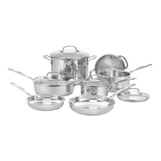 Cuisinart Chef's Classic Stainless Steel 11-piece Cookware Set (As Is Item)|https://ak1.ostkcdn.com/images/products/10374817/P90005297.jpg?impolicy=medium