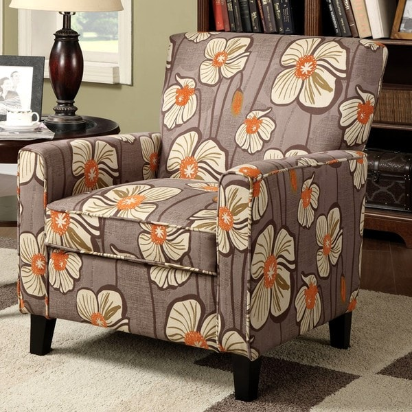 cinnamon contemporary living room accent chair free