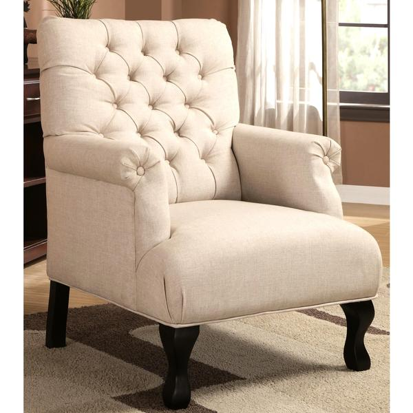 Traditional Button Tufted Accent Arm Chair