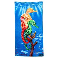 Sea Horses Printed Beach Towel (Set of 2)