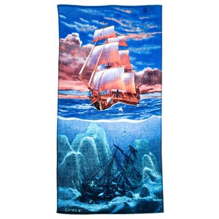 Sail Away Printed Beach Towel (Set of 2)