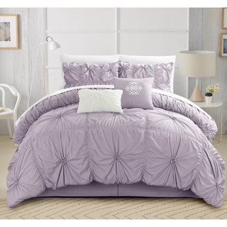 Link to Gracewood Hollow Le Guin Purple Pleated 6-piece Comforter Set Similar Items in Comforter Sets