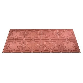 Fasade Regalia Argent Copper 2-foot x 4-foot Glue-up Ceiling Tile