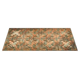 Fasade Regalia Copper Fantasy 2-foot x 4-foot Glue-up Ceiling Tile
