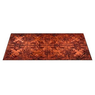 Fasade Regalia Moonstone Copper 2-foot x 4-foot Glue-up Ceiling Tile