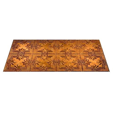 Fasade Regalia Muted Gold 2-ft x 4-ft Glue-up Ceiling Tile