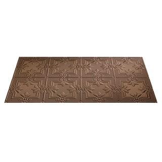 Fasade Regalia Argent Bronze 2-foot x 4-foot Glue-up Ceiling Tile
