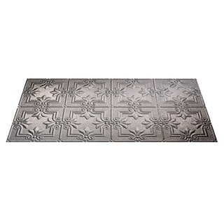 Fasade Regalia Galvanized Steel 2-foot x 4-foot Glue-up Ceiling Tile