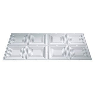 Fasade Portrait Gloss White 2-foot x 4-foot Glue-up Ceiling Tile