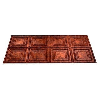 Fasade Portrait Moonstone Copper 2-foot x 4-foot Glue-up Ceiling Tile