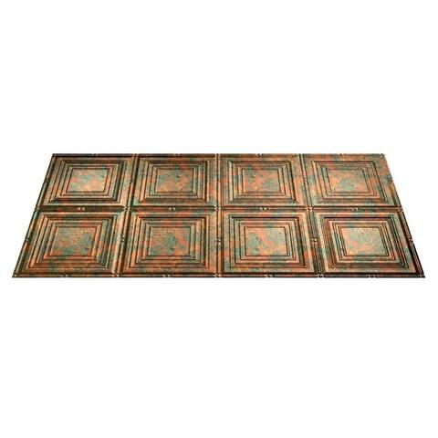 Fasade Portrait Copper Fantasy 2-ft x 4-ft Glue-up Ceiling Tile