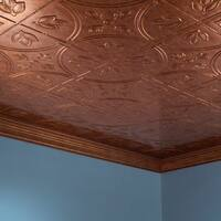 Fasade Traditional Style #5 Muted Gold 2-foot x 4-foot Glue-up Ceiling Tile