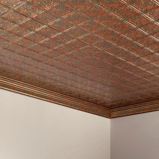 Fasade Traditional Style #10 Copper Fantasy 2-foot x 4-foot Glue-up Ceiling Tile