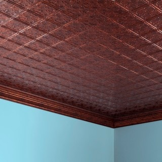 Fasade Traditional Style #10 Moonstone Copper 2-foot x 4-foot Glue-up Ceiling Tile