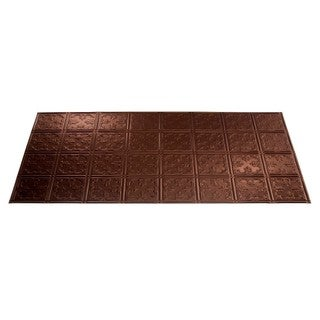 Fasade Traditional Style #10 Oil Rubbed Bronze 2-foot x 4-foot Glue-up Ceiling Tile