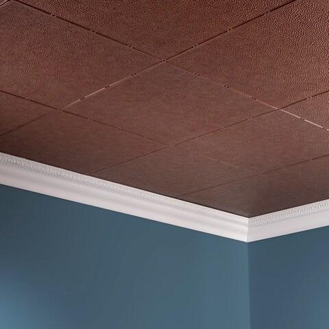 Fasade Hammered Antique Bronze 2-foot x 4-foot Glue-up Ceiling Tile