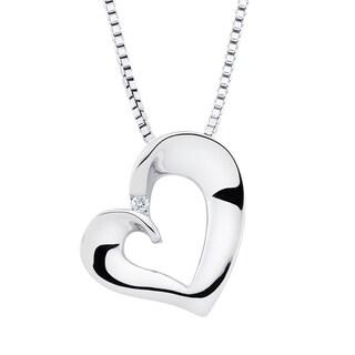 Boston Bay Diamonds Sterling Silver Diamond Accent Heart-shaped Fashion Pendant