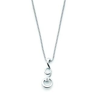 Boston Bay Diamonds Sterling Silver Diamond Accent Curly Q Fashion Pendant
