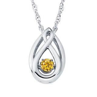 Boston Bay Diamonds Sterling Silver Brilliance in Motion Diamond Accent Teardrop Pendant