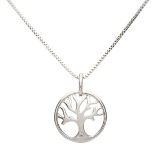 Boston Bay Diamonds Sterling Silver Diamond Accent Tree of Life Fashion Pendant