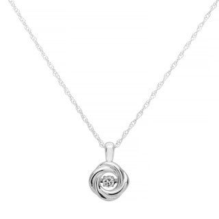 Boston Bay Diamonds Sterling Silver Brilliance in Motion Diamond Accent Round Pendant