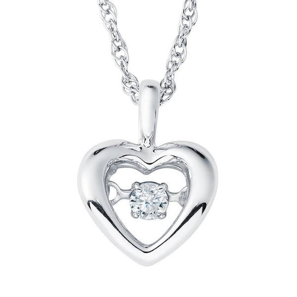 c8e87219f6a0b Boston Bay Diamonds 925 Sterling Silver .05ct TDW Diamond Accent Heart  Pendant w/ Chain