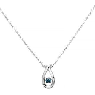 Boston Bay Diamonds Sterling Silver Brilliance in Motion Blue Diamond Accent Pendant