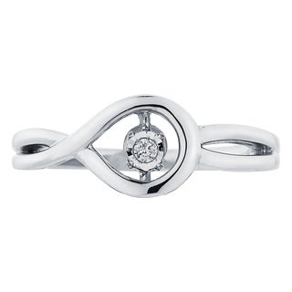 Boston Bay Diamonds Sterling Silver Brilliance in Motion Diamond Accent Ring