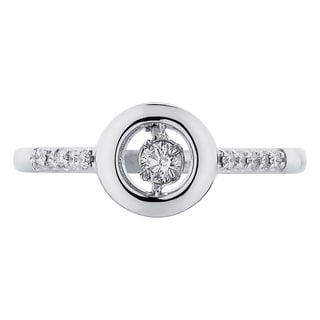 Boston Bay Diamonds Sterling Silver Brilliance in Motion 1/5ct TDW Diamond Round Ring