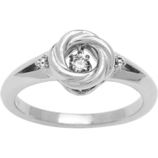 Boston Bay Diamonds Sterling Silver Brilliance in Motion 1/10ct TDW Diamond Ring