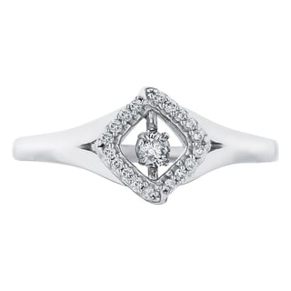 Boston Bay Diamonds Sterling Silver Brilliance in Motion 1/8ct TDW Diamond Ring