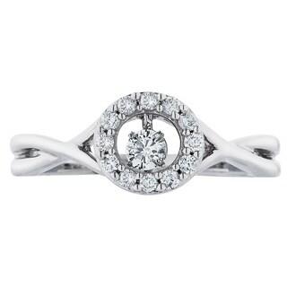 Boston Bay Diamonds Sterling Silver Brilliance in Motion 1/4ct TDW Diamond Ring