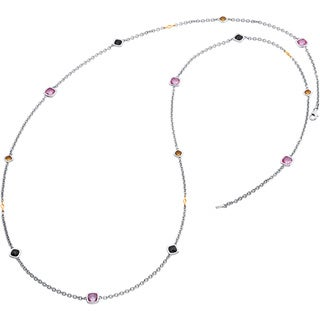 Boston Bay Diamonds 18k Gold and Sterling Silver Triple Gemstone 37-inch Necklace