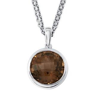 Boston Bay Diamonds Sterling Silver with 11x11mm Smoky Quartz Pendant