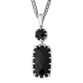 Boston Bay Diamonds Sterling Silver with 8x15mm Black Onyx Necklace