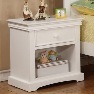 Bolton Cambridge 1-drawer Hardwood Nightstand (Option: White)