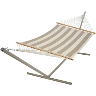 Large Quilted Fabric Hammock - Decade Sand, (Stand Not Included)