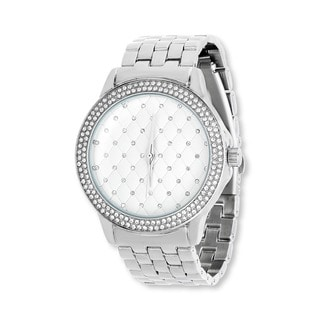 Fortune NYC Boyfriend Silver Case with Crystal / Silver Strap Watch