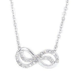 H Star Sterling Silver 1/8ct TDW Diamond Infinity 18-inch Necklace (H-I, I1-I2)