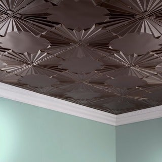 Fasade Art Deco Argent Bronze 2 ft. x 4 ft. Glue-up Ceiling Tile
