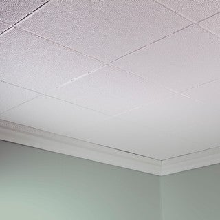 fasade hammered gloss white 2 ft x 4 ft glueup ceiling tile