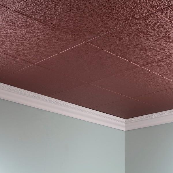 Shop Fasade Hammered Argent Copper 2 Ft X 4 Ft Glue Up