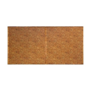 Fasade Hammered Muted Gold 2 ft. x 4 ft. Glue-up Ceiling Tile (Muted Gold - 2 x 4)
