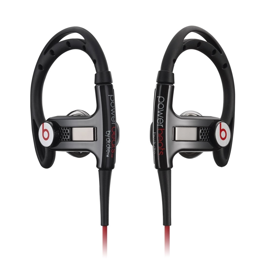 Shop Beats By Dre Powerbeats Black Red Clip On Earbud Headphones With Control Talk Refurbished Overstock 10375417