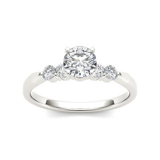 De Couer 14k White Gold 1/2ct TDW Diamond Classic Engagement Ring