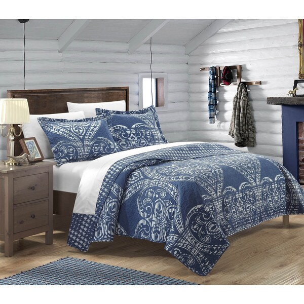 Chic Home Terni Reversible Printed 3-piece Quilt Set