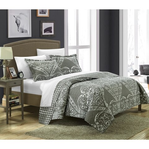 The Curated Nomad Stanyan Reversible Printed 3-piece Quilt Set